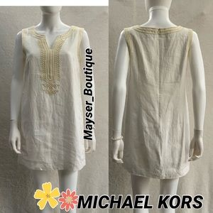 MICHAEL KORS 💝Embroidered Linen Shift Dress